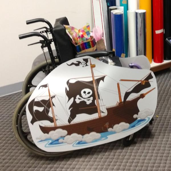 Pirate Ghost Ship Wheelchair Costume Child's