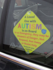 A Loved One with Autism Car Sign