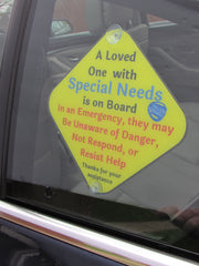 A Loved One with Special Needs Car Sign