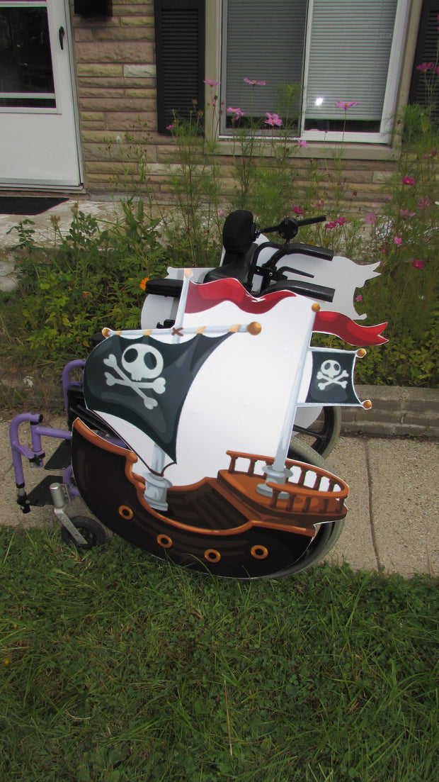 OS Pirate Ship Wheelchair Costume Child's
