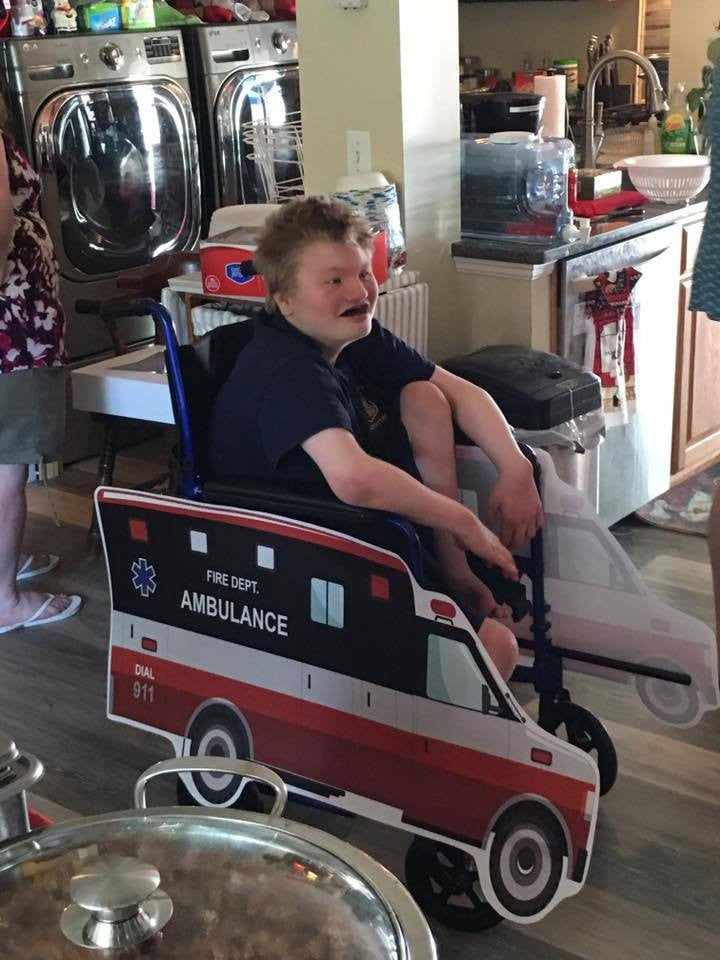 OS Ambulance Wheelchair Costume Child's