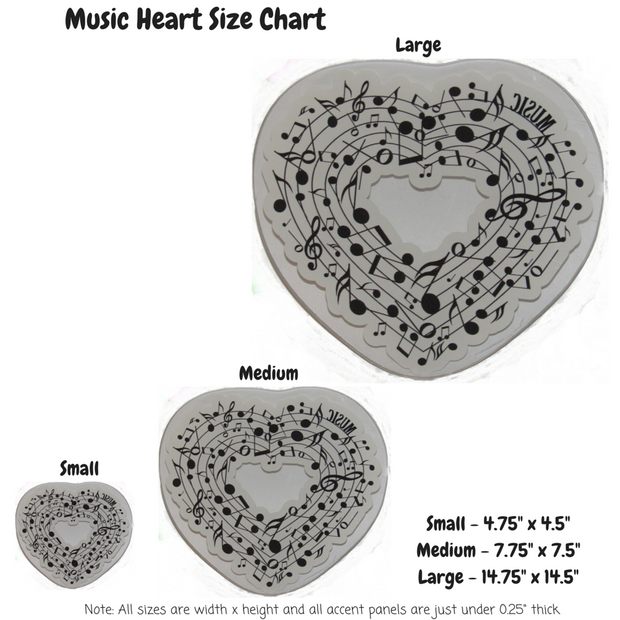 Musical Heart Decoration Panel
