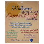 Special Needs Child Door Sign - Orange