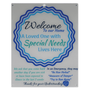 Special Needs Child Door Sign - Blue