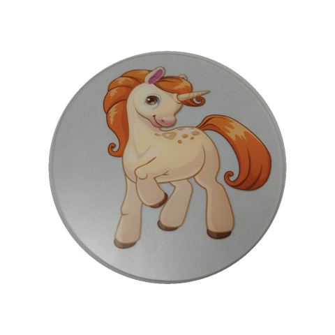 Brown Cartoon Pony Wheelchair Decoration