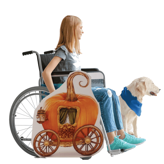 Pumpkin Carriage Wheelchair Costume Child's