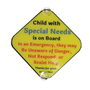 Special Needs Child Car Sign