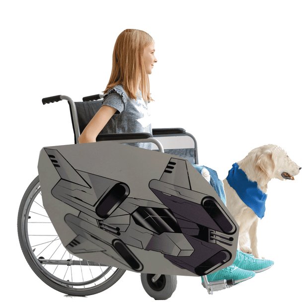 All Thrusters Fighter Jet Wheelchair Costume Child's