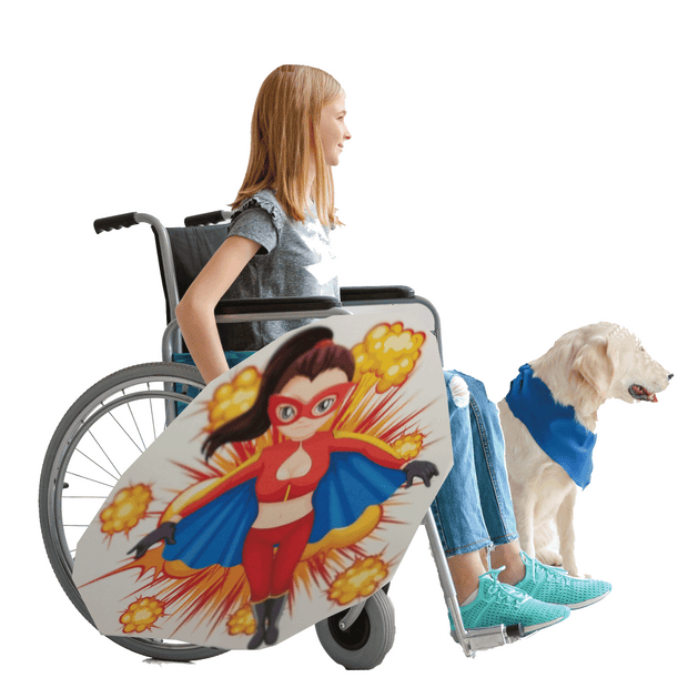 Super Lady Wheelchair Costume Child's