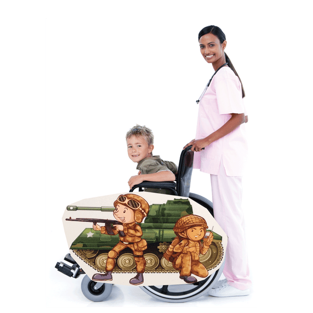 Tank and Kids Wheelchair Costume Child's