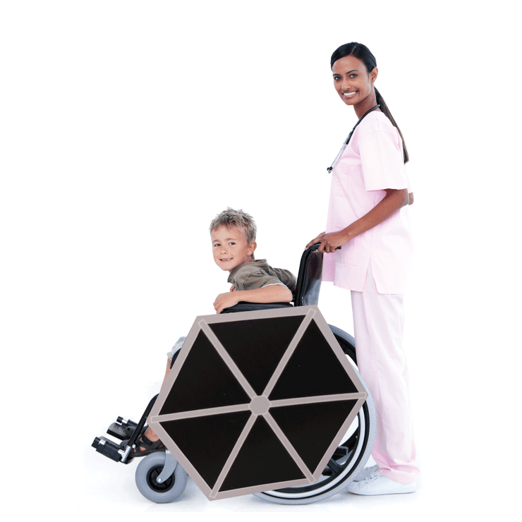 Winged Tie Fighter Lookalike Wheelchair Costume Child's