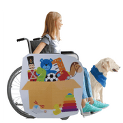 Box Of Toys Wheelchair Costume Child's