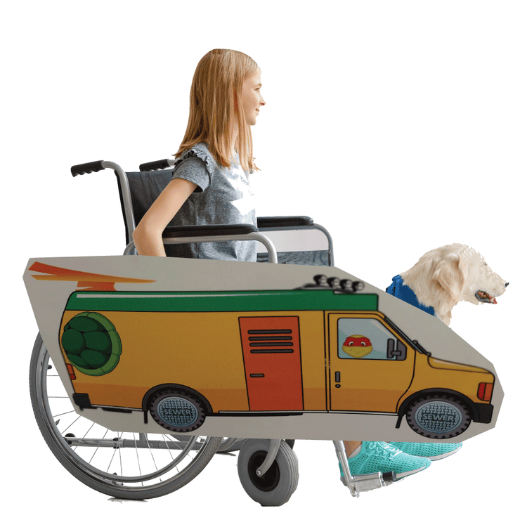 Ninja Turtle Van Lookalike Wheelchair Costume Child's