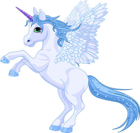 Blue Unicorn Pegasus Wheelchair Costume Child's