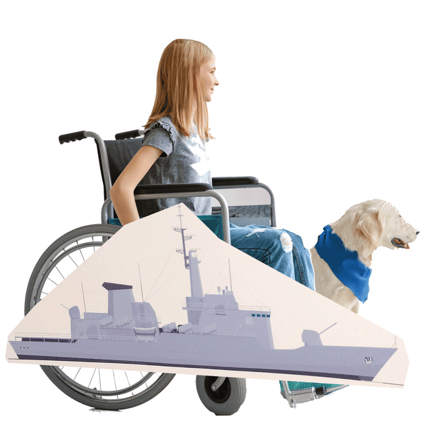 Battleship Wheelchair Costume Child's