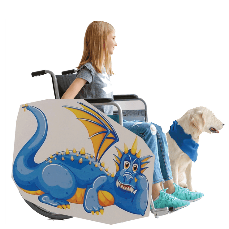 Blue Dragon Castle Wheelchair Costume Child's