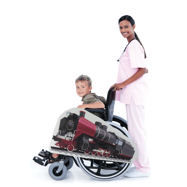 Red Steam Engine (Hogwarts Express look-alike) Wheelchair Costume Child's