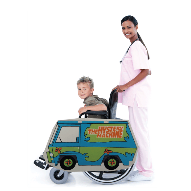 Mystery Machine Lookalike Wheelchair Costume Child's