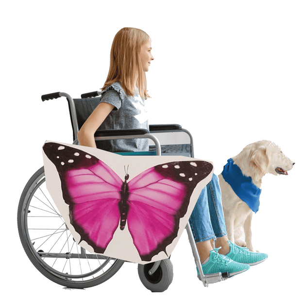 Pink Butterfly 2 Wheelchair Costume Child's
