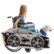 Black White Race Car Wheelchair Costume Child's