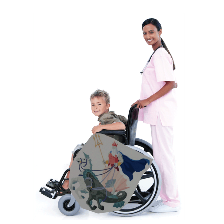 King Tritan look-alike Wheelchair Costume Child's