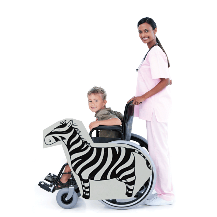Zebra Wheelchair Costume Child's