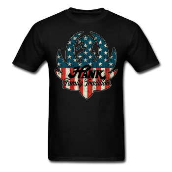 american flagfamily tradition ruger logo tee apparel