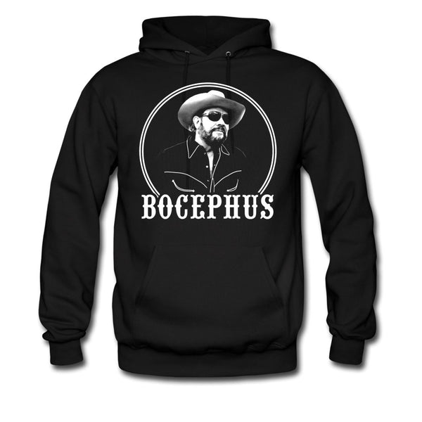 Bocephus Distressed Text Pullover HoodieBocephus Photo Pullover Hoodie