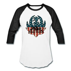 American Flag/Family Tradition Ruger Logo Baseball Tee