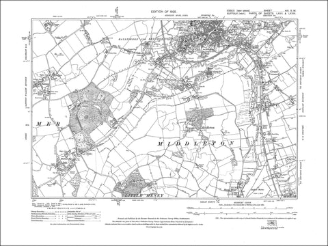Ballingdon, Bulmer, Bulmer Tye, Middleton, Sudbury (S), Great Cornard, Essex, in 1925 - 2.2 MB PDF file