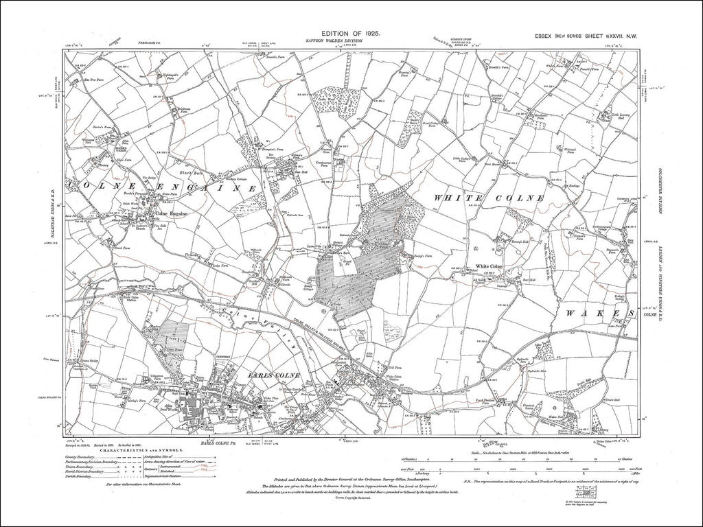 Colne Engaine, Earls Colne, White Colne, Essex 1925 - 1.9 MB PDF file