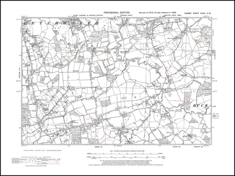 Betchworth (south), Leigh, Trumpet Hill, Surrey 1938 PDF file