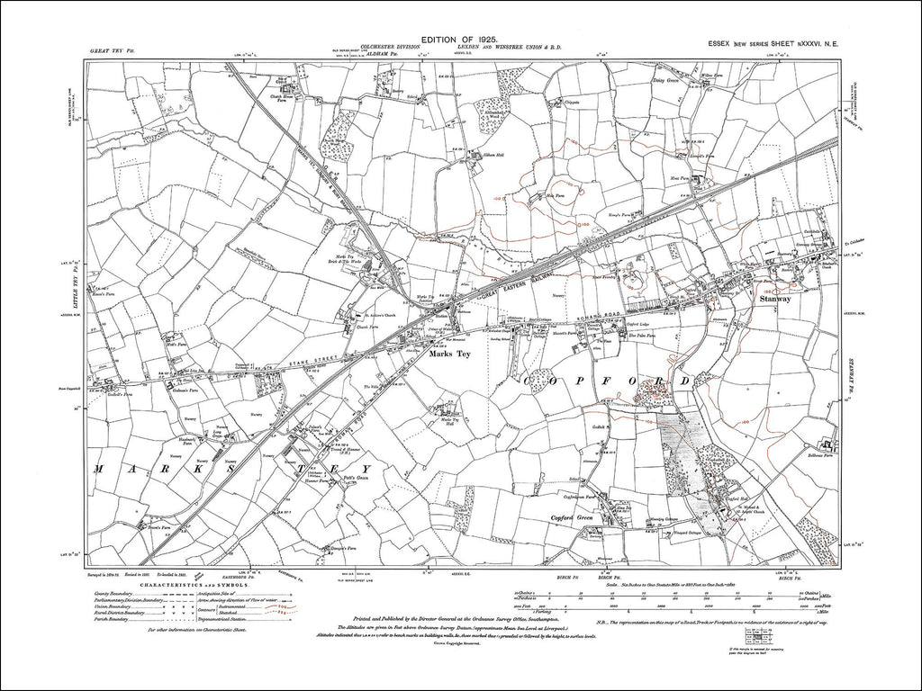 Marks Tey, Stanway, Copford Green, Essex 1925 - 1.7 MB PDF file