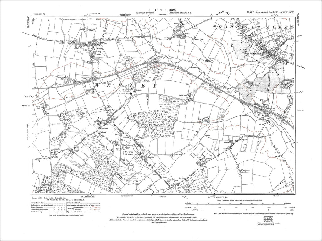 Thorpe le Soken, Weeley, Weeley Heath, Essex 1925 - 2.0 MB PDF file