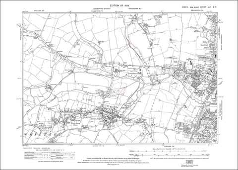 Chelmsford (W), Writtle, Great Oxney Green, Essex 1924 - 1.8 MB PDF file