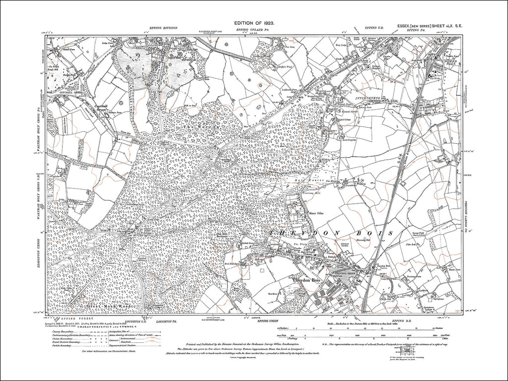 Epping (SW), Theydon Bois, Copthall Green, Essex 1923 - 2.8 MB PDF file