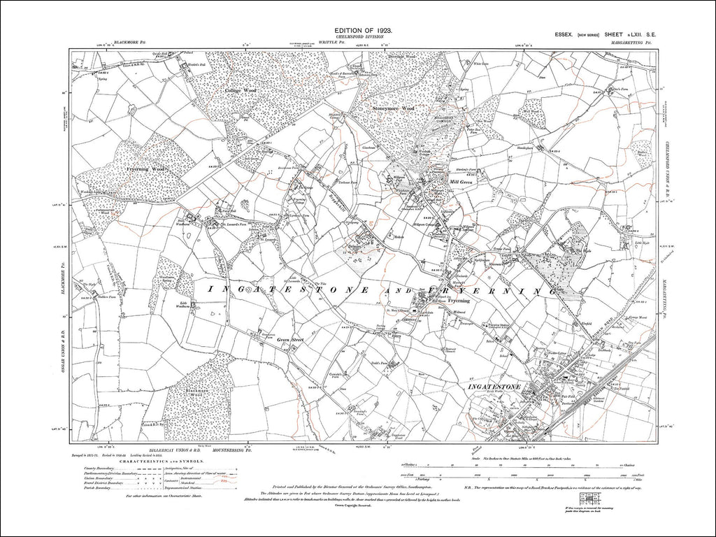 Ingatestone (N), Fryerning, Mill Green, Essex 1923 - 2.1 MB PDF file