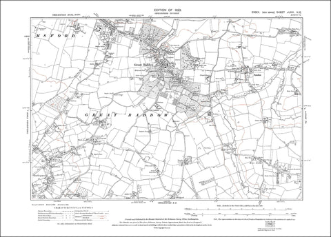 Chelmsford (S), Great Baddow, Sandon, Essex 1923 - 1.8 MB PDF file