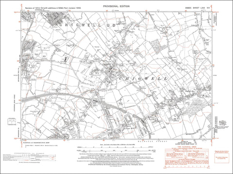 Chigwell, Loughton (S), Buckhurst Hill (E), Essex 1940 - 2.3 MB PDF file