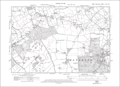 Chigwell (E), Havering atte Bower, Lambourne End, Bournebridge, Essex 1921 - 2.0 MB PDF file