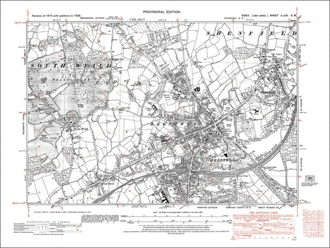 Brentwood, Shenfield, South Weald, Essex 1938 - 3.0 MB PDF file