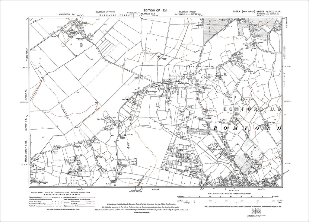 Romford (NW), Collier Row, Essex 1921 - 1.7 MB PDF file