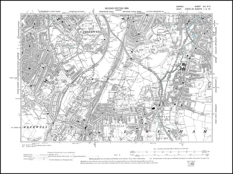 Camberwell, Peckham Rye Common, Surrey 1898 PDF file