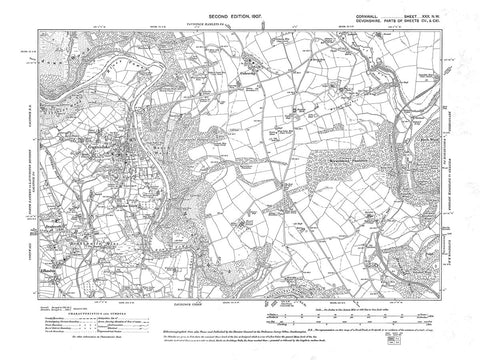 Gunnislake, Cornwall, in 1907 - 3.6 MB PDF file
