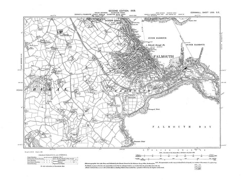 Falmouth, Cornwall, in 1909 - 2.5 MB PDF file
