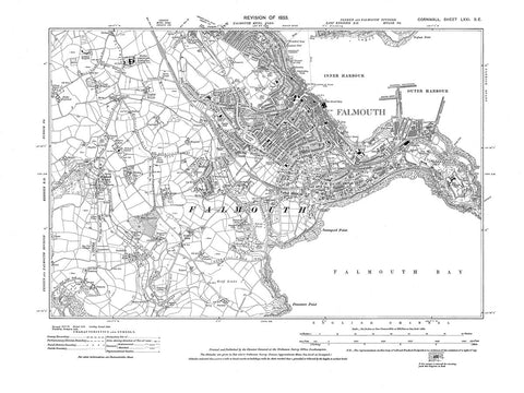 Falmouth, Cornwall, in 1933 - 2.9 MB PDF file