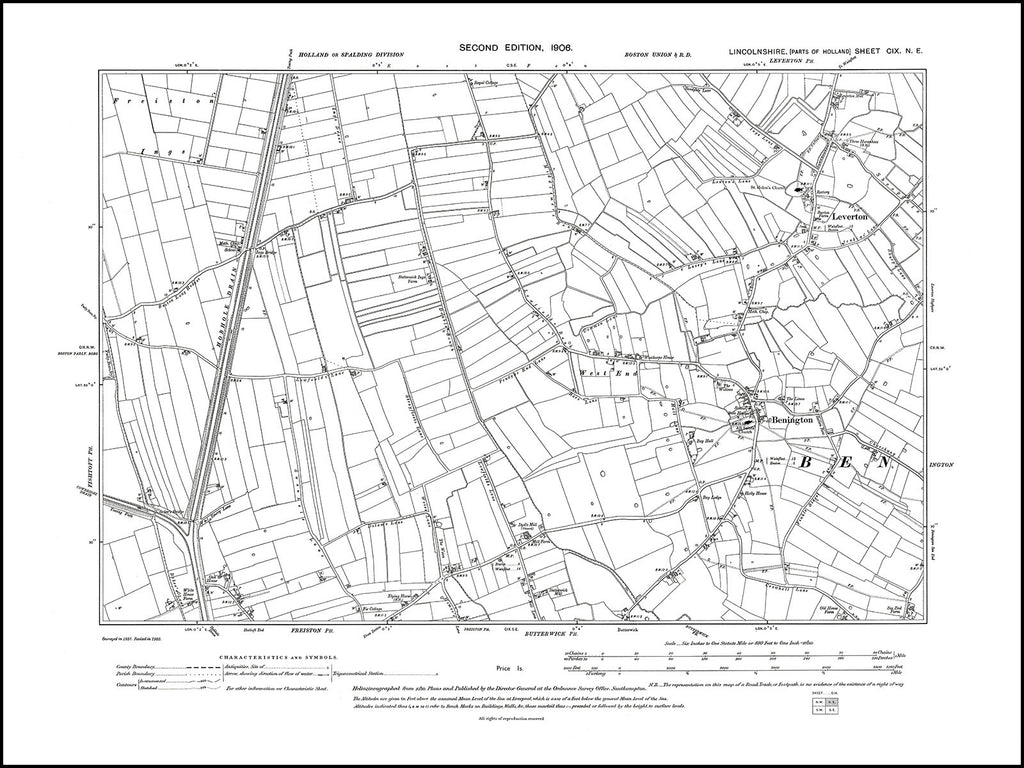 Benington, Leverton, Lincolnshire 1906, PDF file