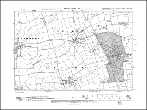 Aswarby, Swarby, Aunsby, Culverthorpe, Lincolnshire 1905, PDF file