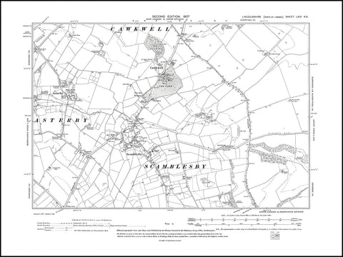 Asterby, Cawkwell, Scamblesby, Lincolnshire 1907, PDF file
