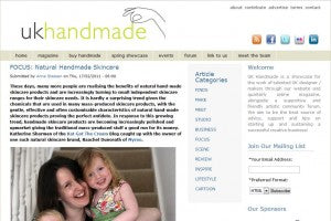 ukhandmade coverage for Myroo Skincare